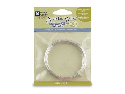 Beadalon Artistic Wire 16 Gauge    Silver Plated 1.3mm X 3.1m