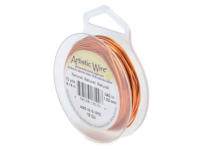 Beadalon Artistic Wire 18 Gauge    Natural 9.1m