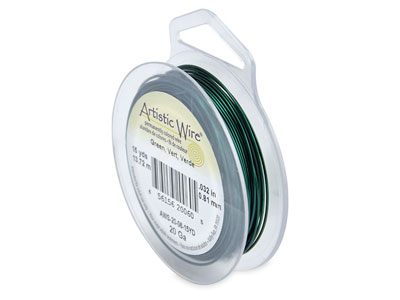 Beadalon Artistic Wire 20 Gauge    Green 0.81mm X 13.7m