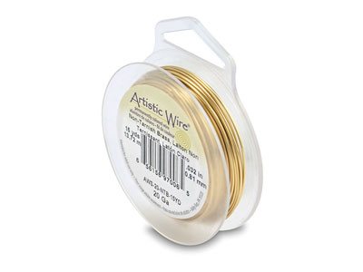 Beadalon Artistic Wire 20 Gauge    Tarnish Resistant Brass 0.81mm X   13.7m