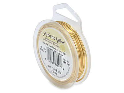 Beadalon Artistic Wire 22 Gauge    Tarnish Resistant Brass 0.64mm X   13.7m
