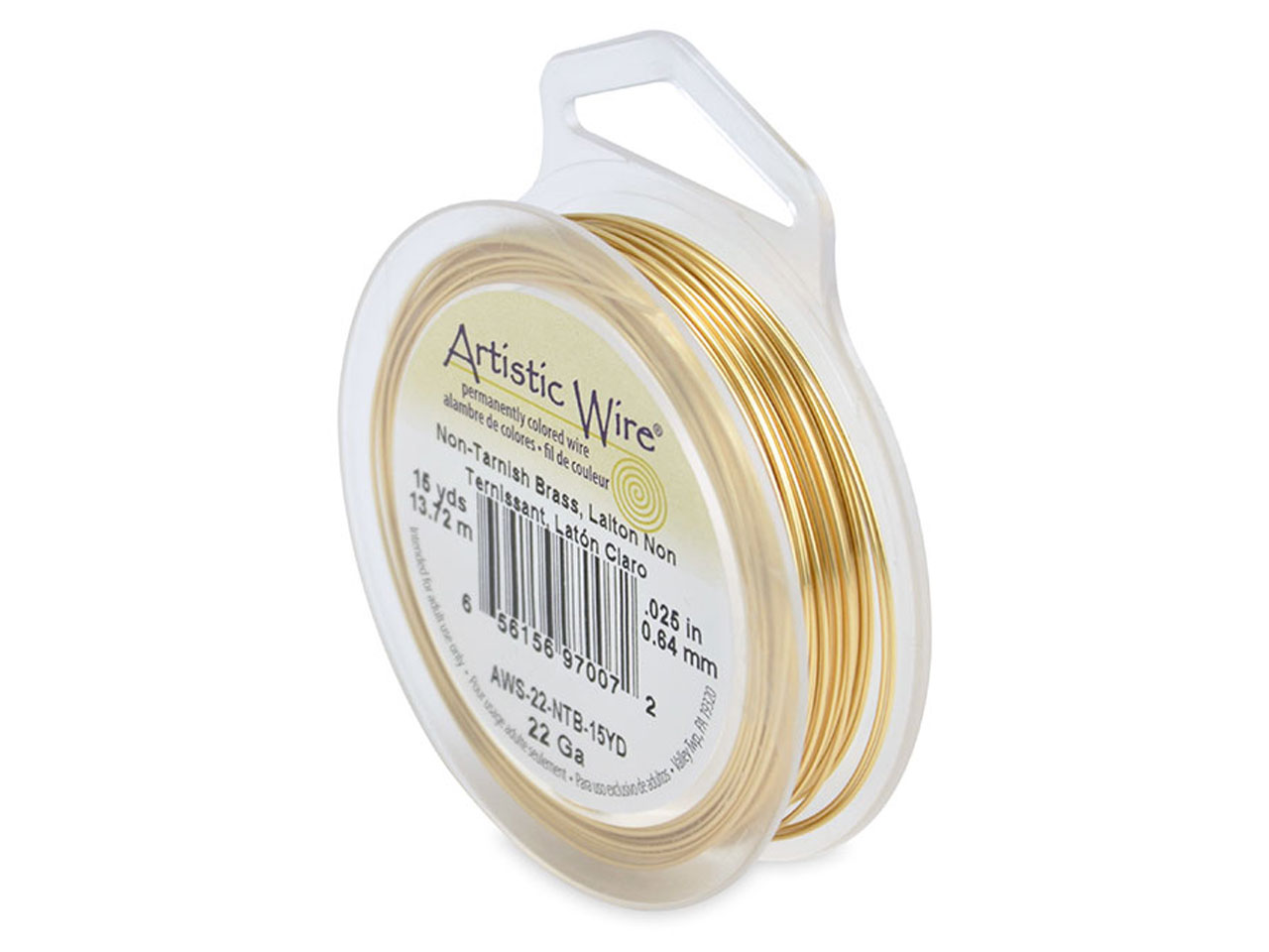 Beadalon Artistic Wire 22 Gauge    Tarnish Resistant Brass 13.7m