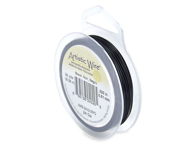 Beadalon Artistic Wire 24 Gauge    Black 0.51mm X 18.2m