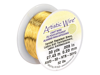 Beadalon Artistic Wire 32 Gauge    Tarnish Resistant Brass 0.20mm X   27.4m