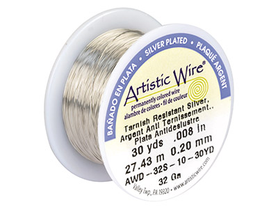 Beadalon Artistic Wire 32 Gauge    Silver Plated 0.20mm X 27.4m