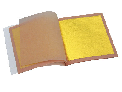 23.75 Ct Gold Leaf 1 Booklet25 Loose Leaves 80x80mm Loose Leaf