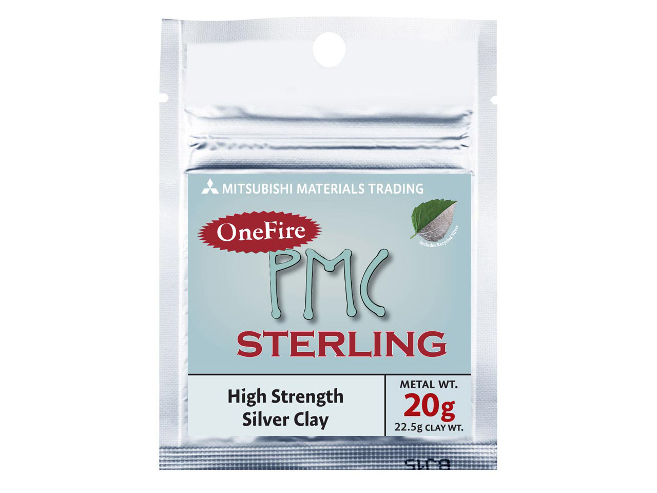 Precious Metal Clay Onefire        Sterling 22.5g Pmc