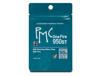 Precious Metal Clay PMC OneFire 950 Sterling Silver Clay 56.3g