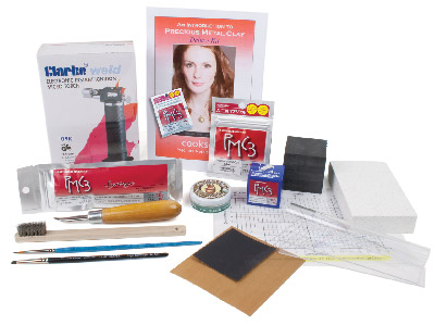 Precious Metal Clay Deluxe Starter Kit Including Fine Silver Pmc3