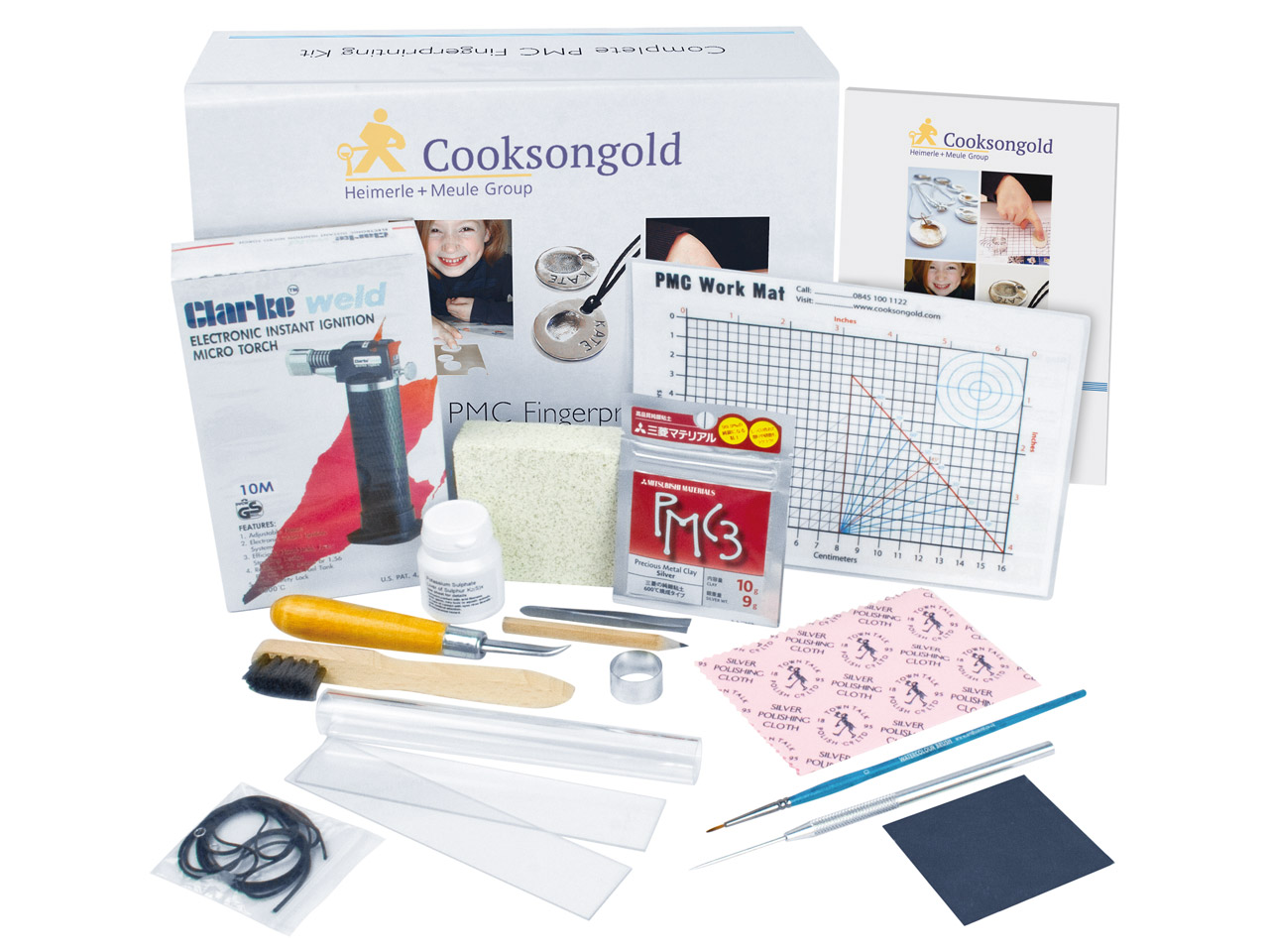 Precious Metal Clay Fingerprint    Jewellery Kit Silver Pmc3