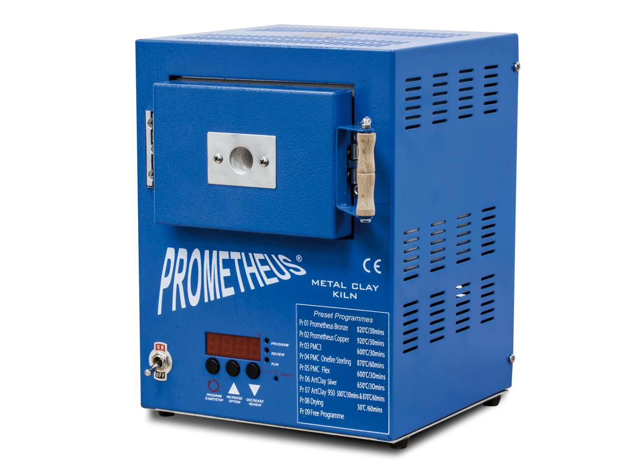 Prometheus Mini Kiln Pro1 Prg      Preset For Metal Clay