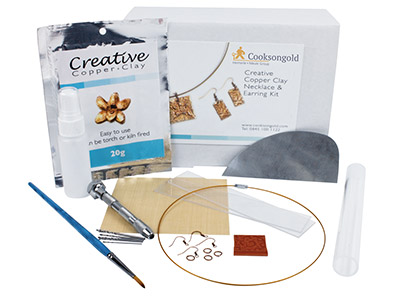 Creative Copper Clay Necklace And Earring Kit