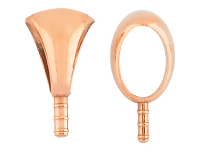Copper Embeddable Pendant Bails    Pack of 10 6mm X 4mm