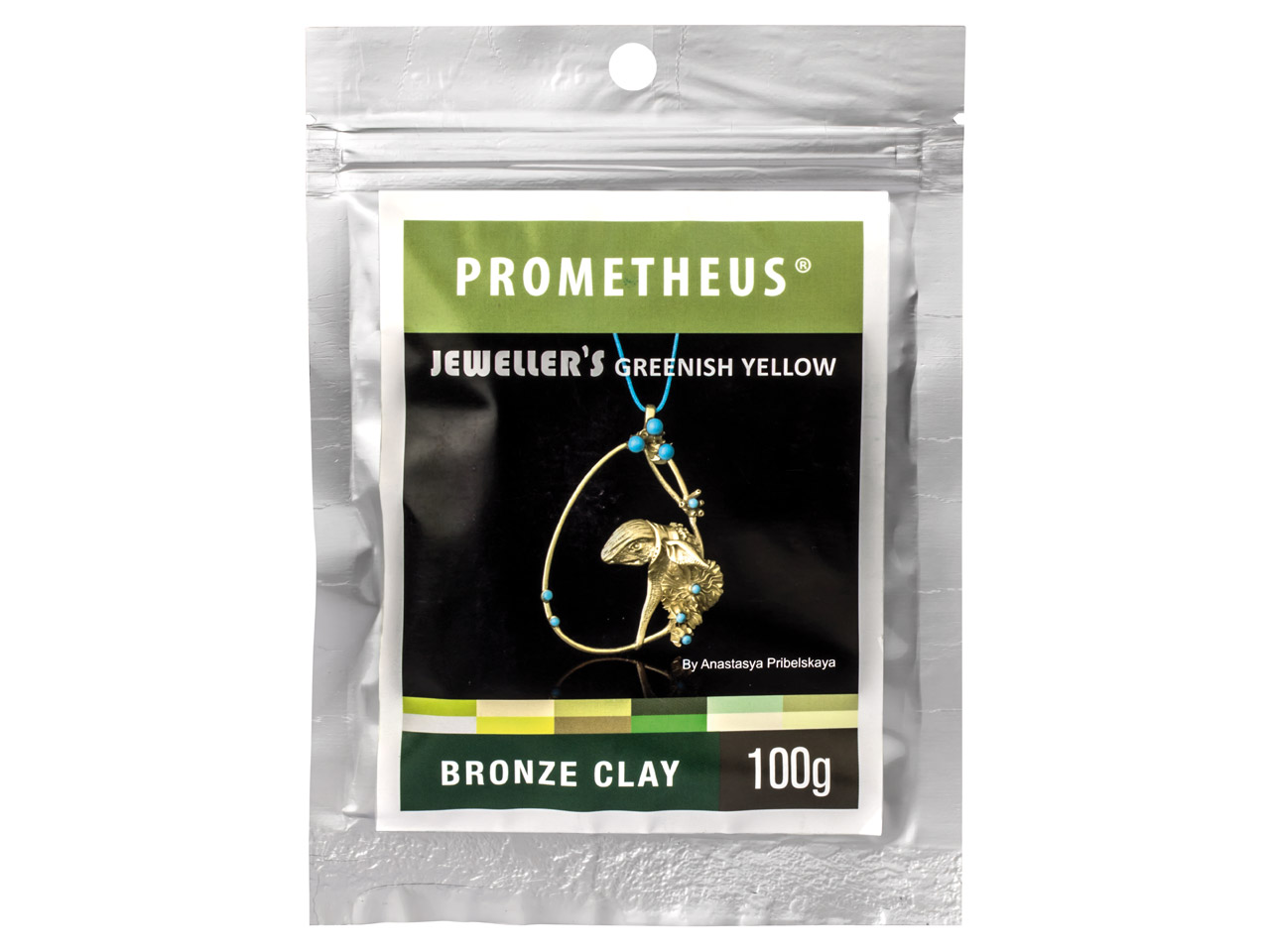 Prometheus Jewellers Greenish      Yellow Bronze Clay 100g