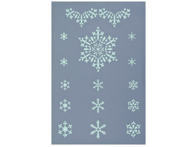 Art Clay Stencil Sheet - Snowflakes