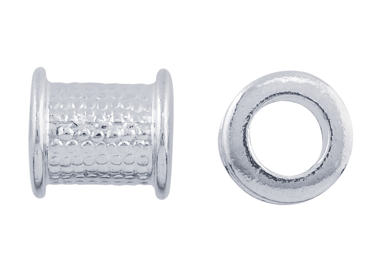 Silver Bead Core 7.4x8mm, 4.3mm    Hole