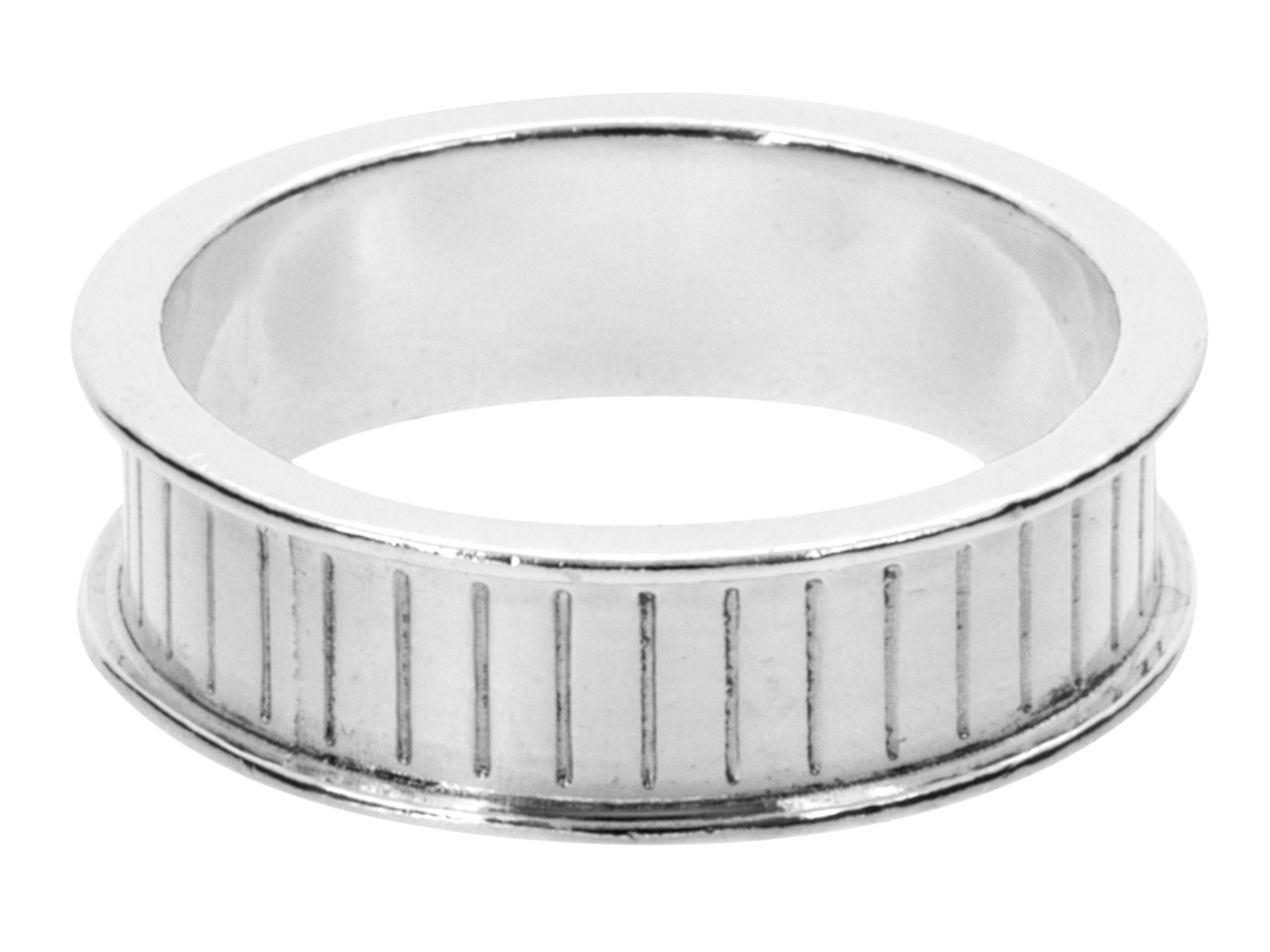 Silver Channel Ring Core 6mm Wide, Large