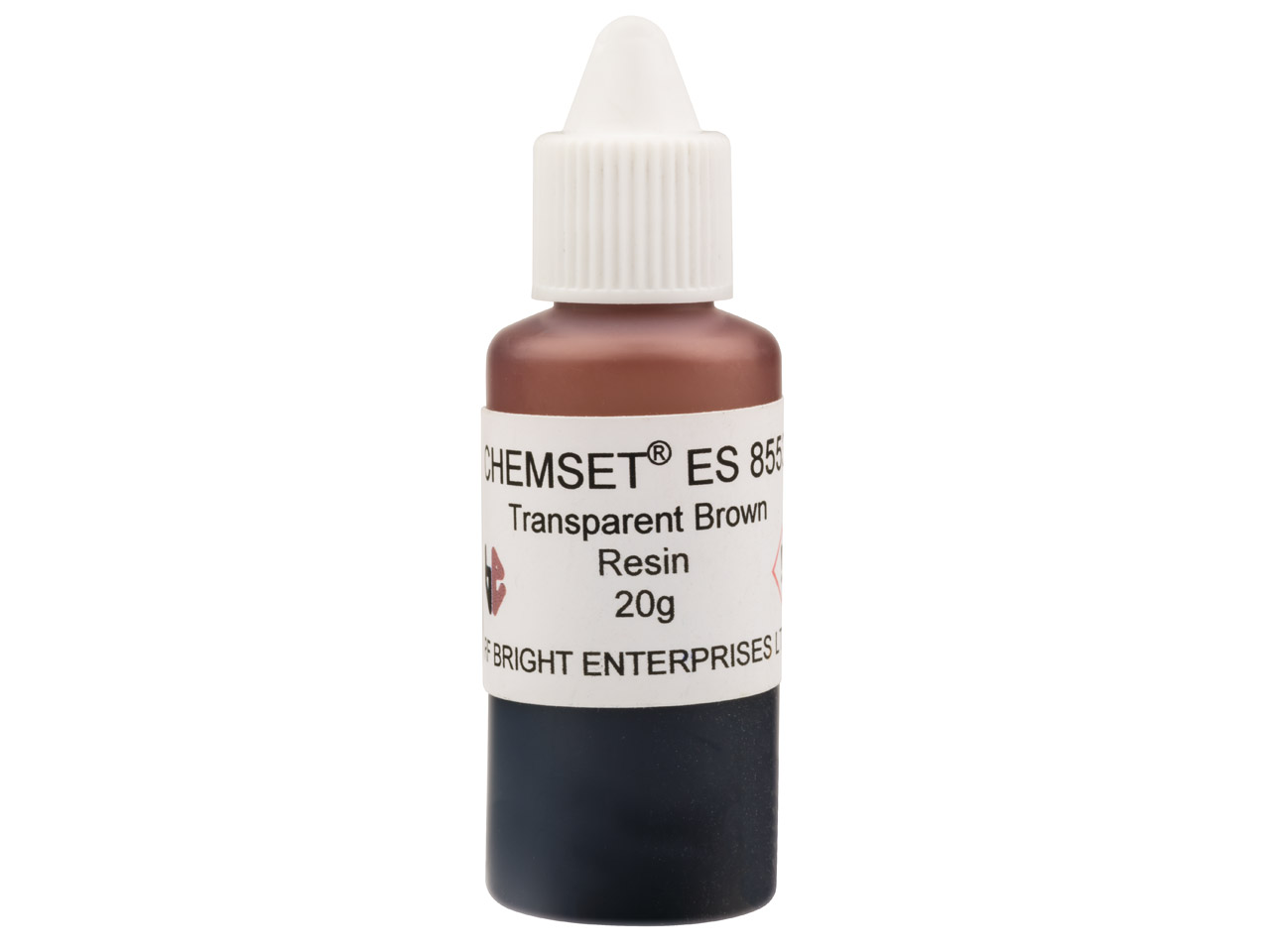 Epoxy Enamel Transparent, Brown,   20g Resin Mix Un3082