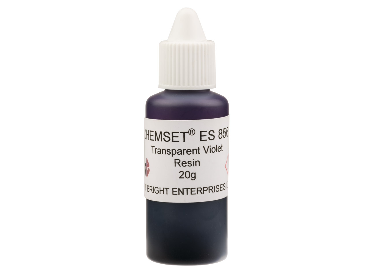 Epoxy Enamel Transparent, Violet,  20g Resin Mix Un3082