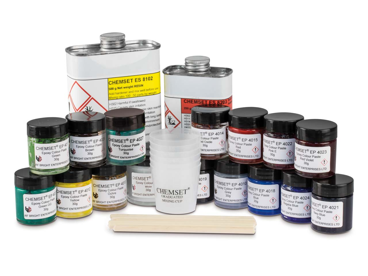 Epoxy Enamels, Opaque Colours Kit, Un3082 + Un2922