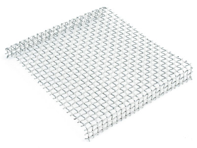 Standard Woven Mesh Rack Stainless Steel Pre Shaped 100x100mm