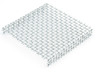 Standard Woven Mesh Rack Stainless Steel Pre Shaped 75x75mm