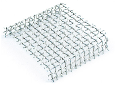 Standard Woven Mesh Rack Stainless Steel Pre Shaped 50x50mm