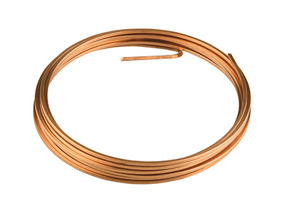 Copper Square Wire 2mm X 3m Fully  Annealed
