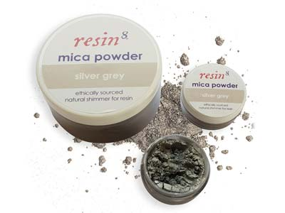 Mica Powder For Resin Casting,     Silver Grey, 5g
