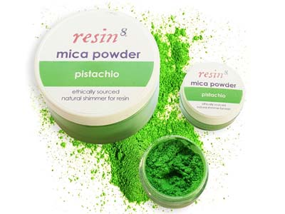 Mica Powder For Resin Casting     Pistachio 5g