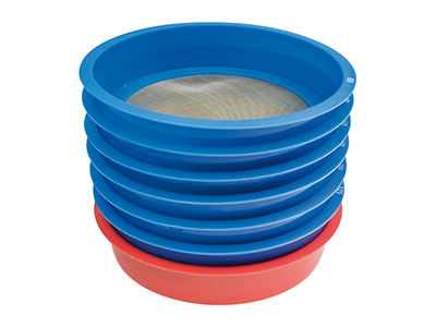 7 Piece Stackable Enamel Sifting   Set 60 To 325 Mesh