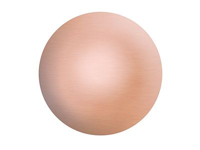 Copper Blanks Round Domed Pack of 6 10mm X 0.7mm