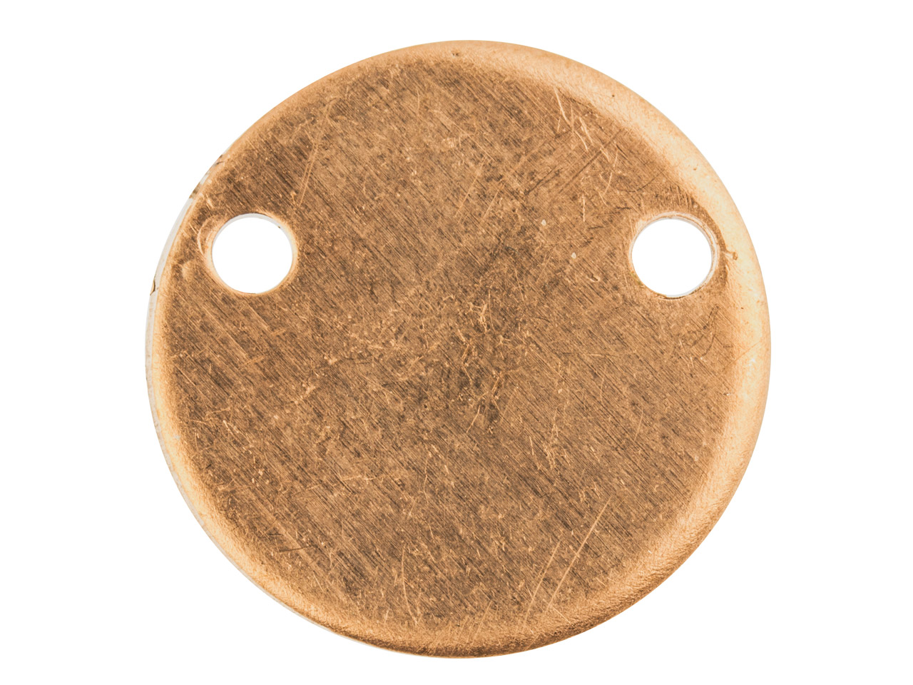 Copper Blanks Round Disc Pendant   Pack of 6, 15mm