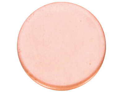 Copper Blanks Round Pack of 6, 38mm X 1mm