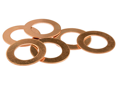 Copper Blanks Round Washer         Pack of 6 30mm