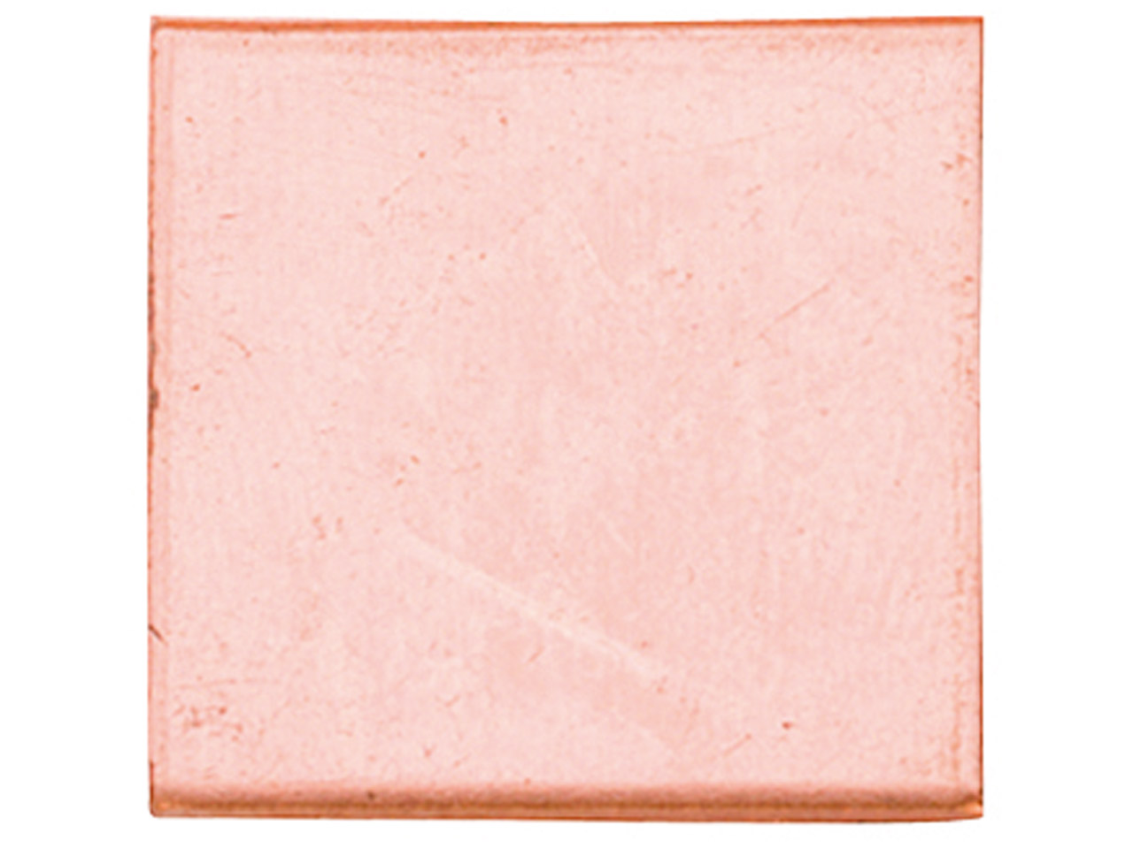 Copper Blanks Square Pack of 6 38mm X 1mm