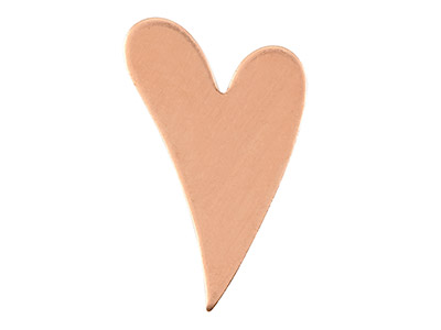 Copper Blanks Fancy Heart          Pack of 12, 17mm X 26.8mm X 1mm