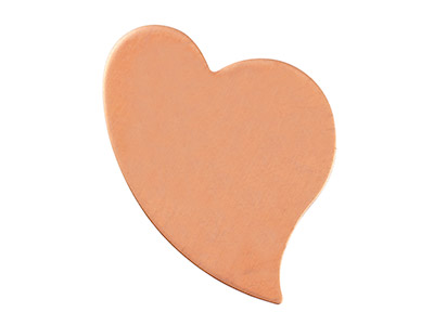 NEW  Copper Blank Swept Heart