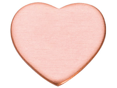 Copper Blanks Heart Pack of 6 12.7mm X 1mm