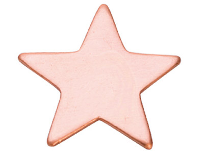 Copper Blanks Star Pack of 6 20mm X 1mm