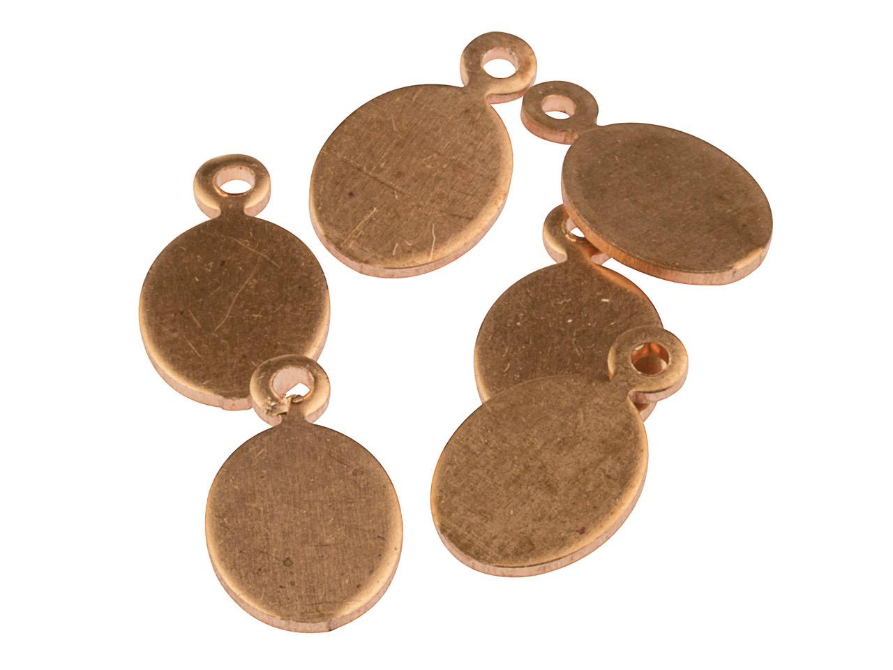 Copper Blanks Miniature Oval Tag   Pack of 6 14mm X 8mm