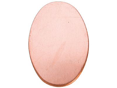 Copper Blanks Oval Pack of 6 13mm X 18mm X 1mm
