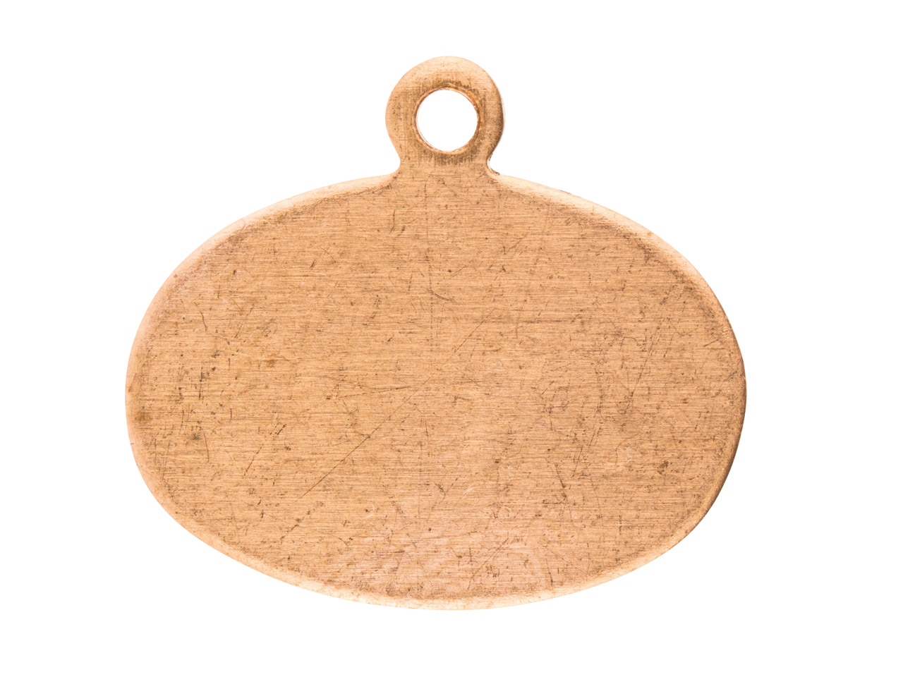 Copper Blanks Wide Oval Tag        Pack of 10, 18mm X 16mm
