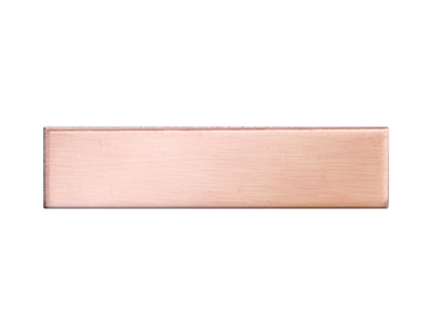 Copper Blanks Rectangle Pack of 6 6mm X 25mm X 0.7mm
