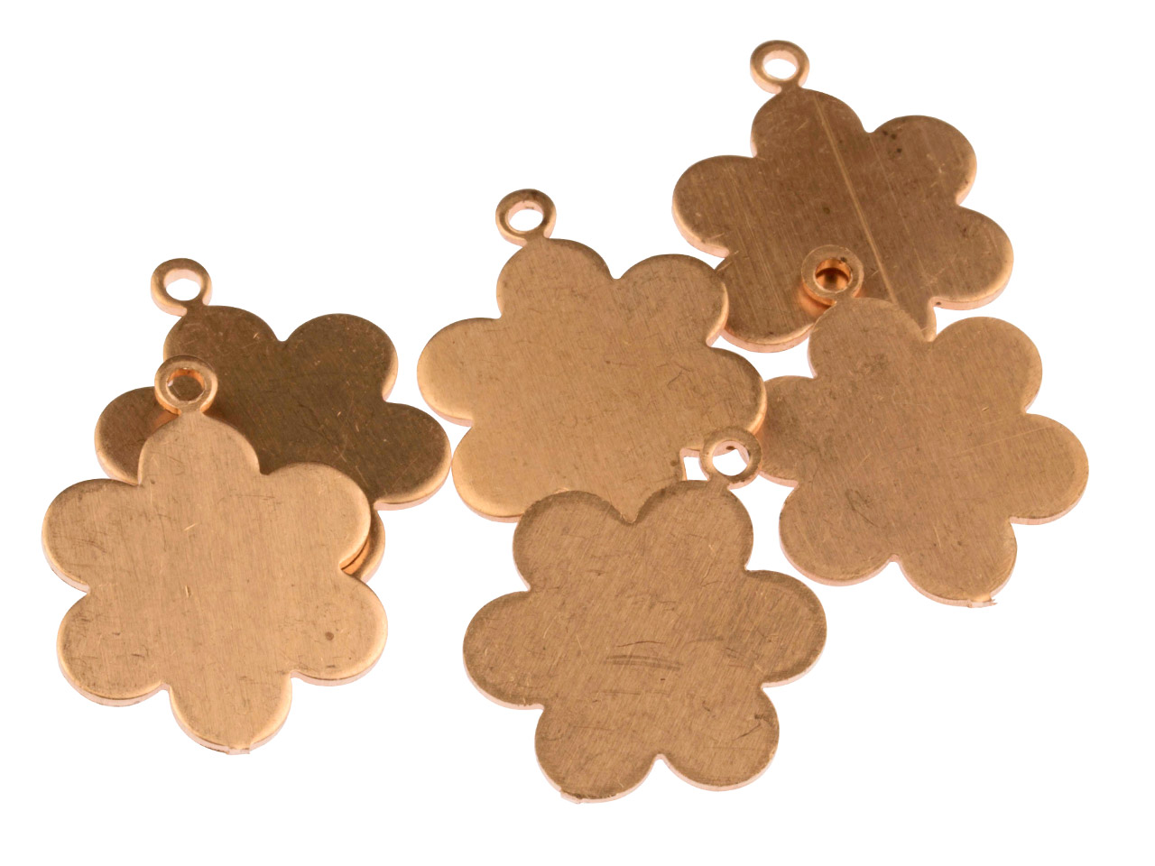 Copper Blanks Medium Daisy Pendant Pack of 6 25mm X 19mm