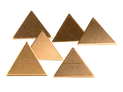 Copper Blanks Triangle Pack of 6   21mm