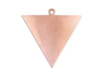 Copper Blanks Triangle Pack of 6 35mm X 0.9mm Reverse Triangle