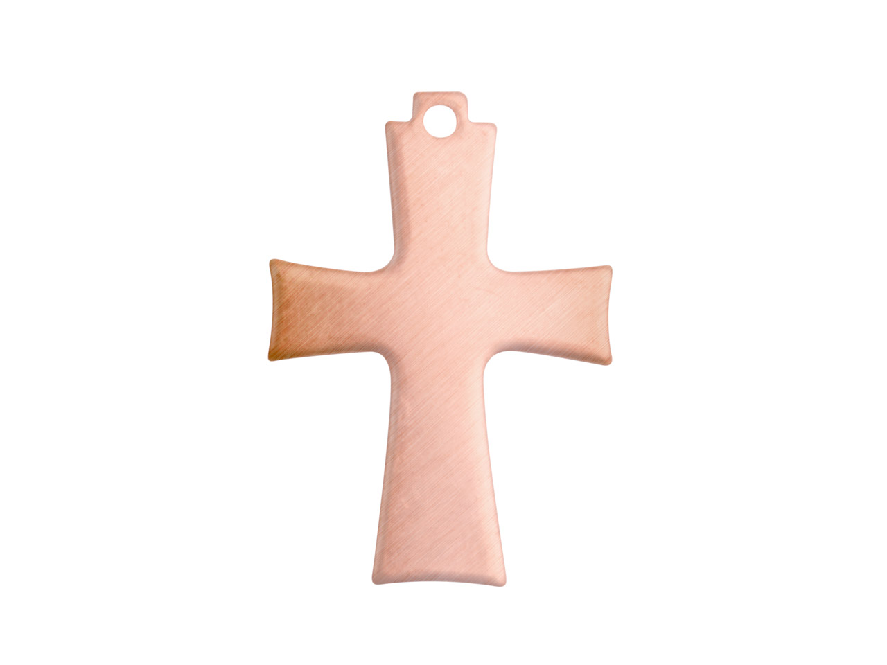 Copper Blanks Cross Pack of 6 24mm X 16mm X 0.9mm Pierced Top Ring