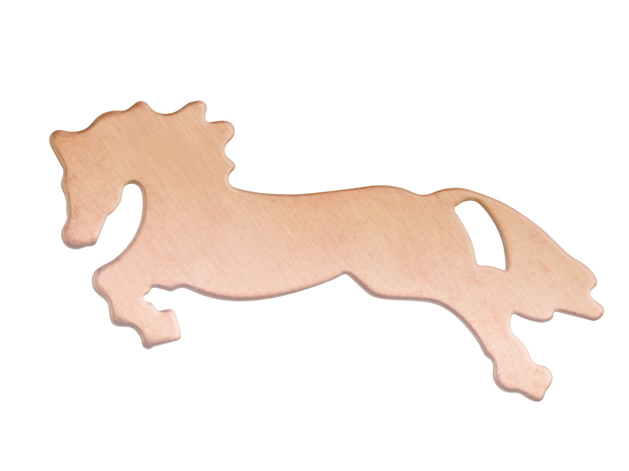 Copper Blanks Horse Pack of 6 45mm X 0.9mm