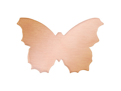 Copper Blanks Butterfly Pack of 6 30mm X 0.9mm